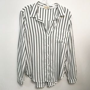 Cloth & Stone • Women's Striped Button Down Size L